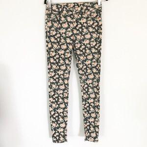 Floral print skinny jeans Jeggings